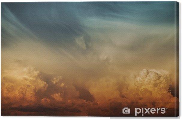 Tableau sur toile Stormy Nature Nuage Toile de fond - Destin
