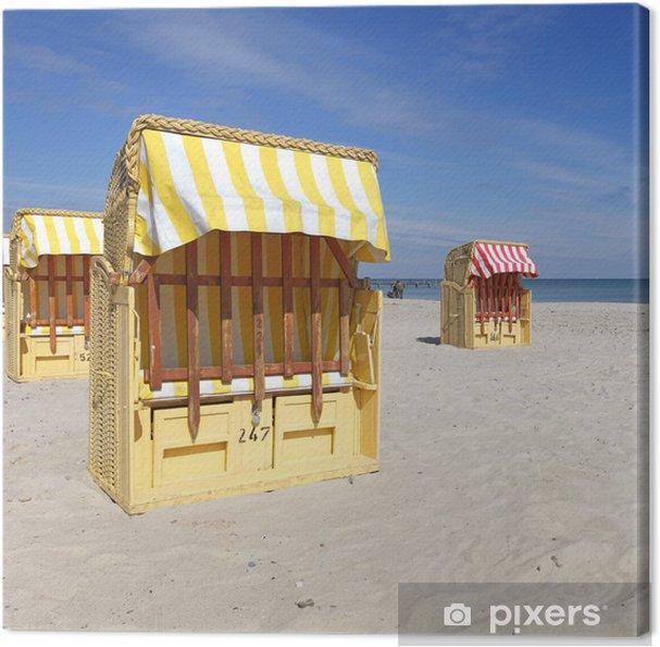 Tableau sur toile Strandkorb - Vacances