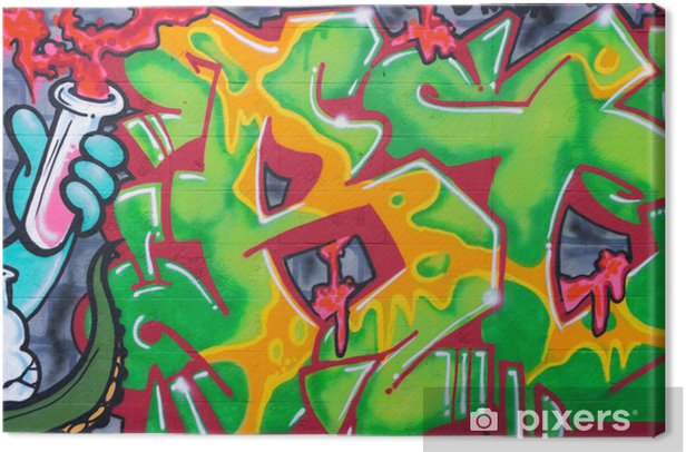 Tableau sur toile Street art sur le mur - Thèmes