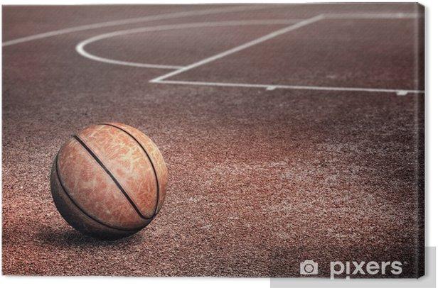 Tableau sur toile Streetballcourt - Basket-Ball
