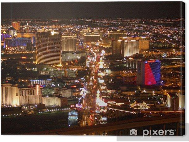 Tableau sur toile Strip de Las Vegas la nuit - Las Vegas