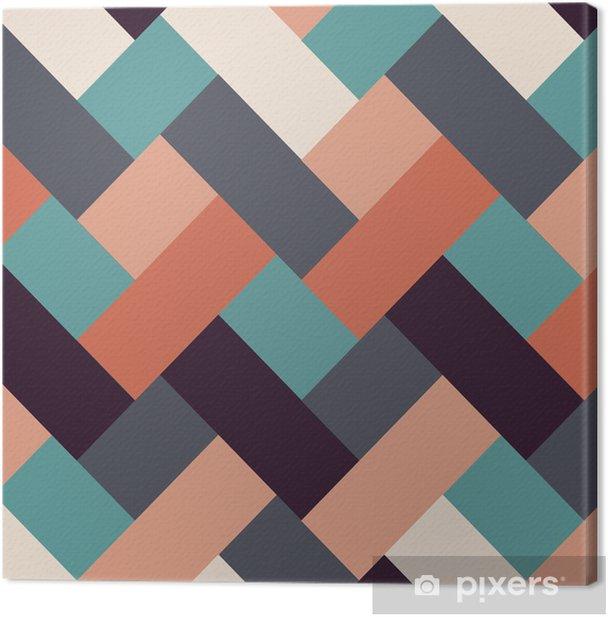 Tableau sur toile Style rétro rayures abstrait - Arrière plans