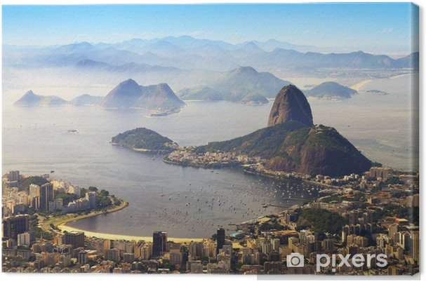 Tableau sur toile Sugarloaf, Rio de Janeiro, Brésil - Brésil
