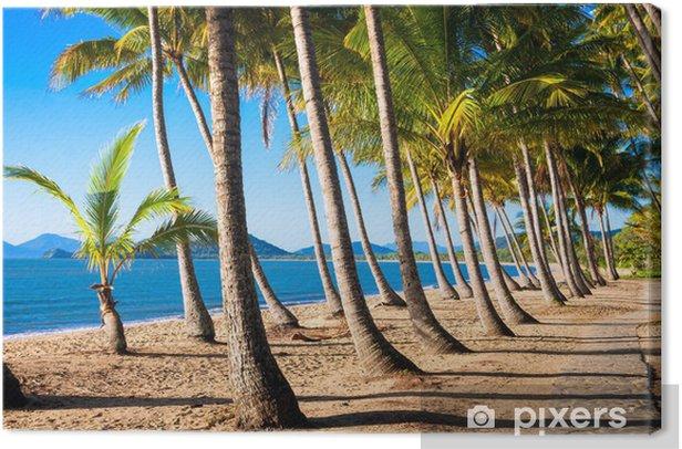 Tableau sur toile Sun lever plage tropicale - Vacances