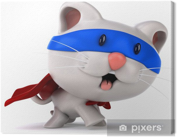 Tableau sur toile Super Cat - Mammifères
