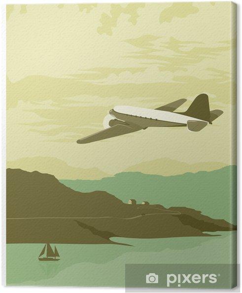Tableau sur toile Sur la baie - Dans les airs
