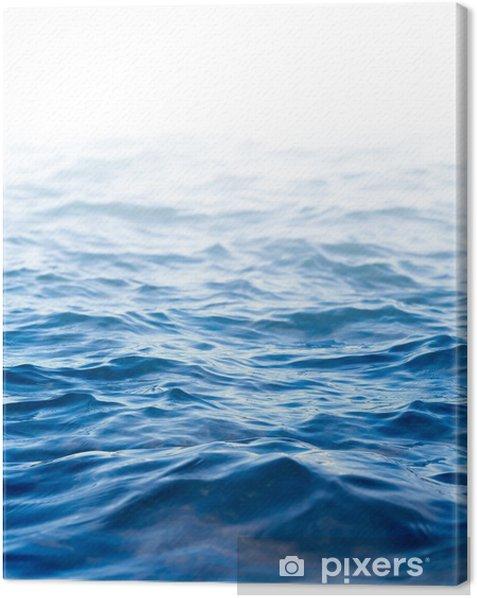 Tableau sur toile Surface de l'eau, fond abstrait avec un champ de texte - Nature