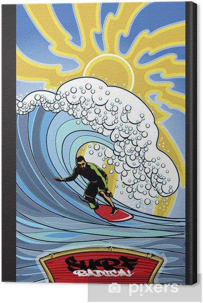 Tableau sur toile Surfer radical - Vacances