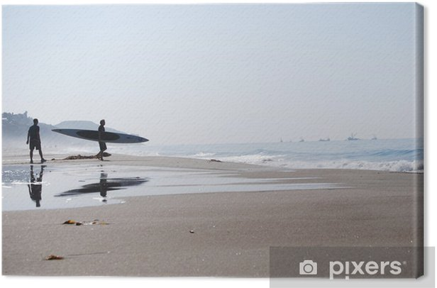 Tableau sur toile Surfeur - Malibu - Californie - Villes américaines