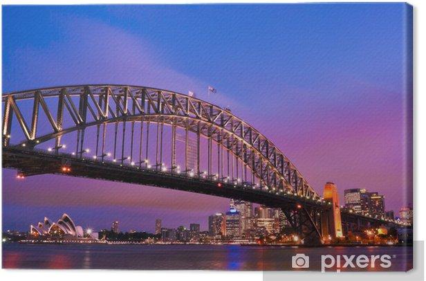 Tableau sur toile Sydney habour pont - sydney ville - Thèmes
