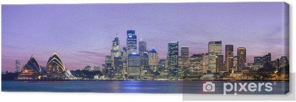 Tableau sur toile Sydney horizon comme vu à travers le port de Kirribilli - Thèmes