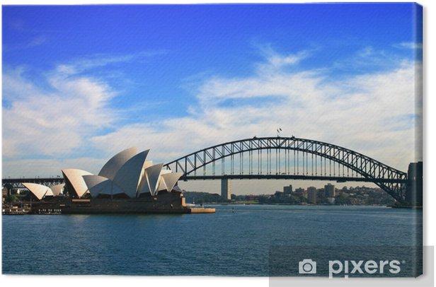 Tableau sur toile Sydney Opera House et Harbour Bridge - Paysages urbains