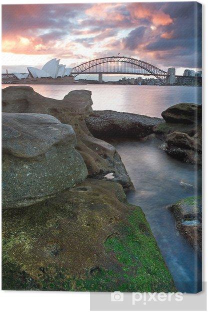 Tableau sur toile Sydney Opera House et Harbour Bridge - Thèmes