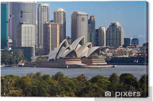 Tableau sur toile Sydney Opera House et Skyline - Thèmes