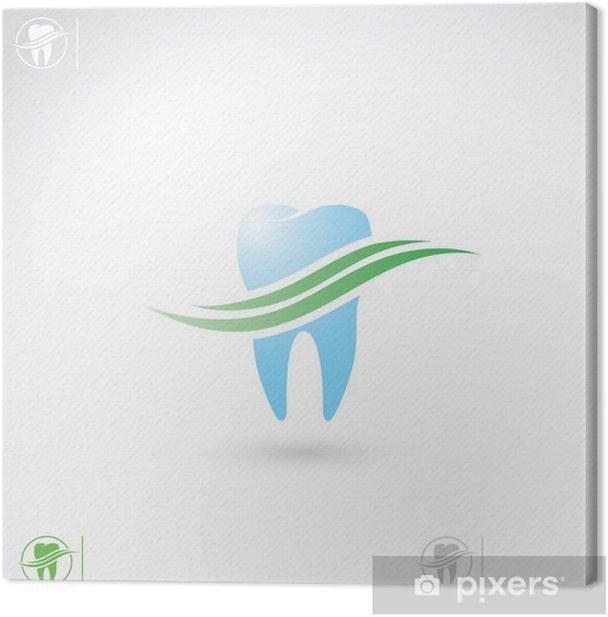 Tableau sur toile Symbole de dent - Santé et médecine