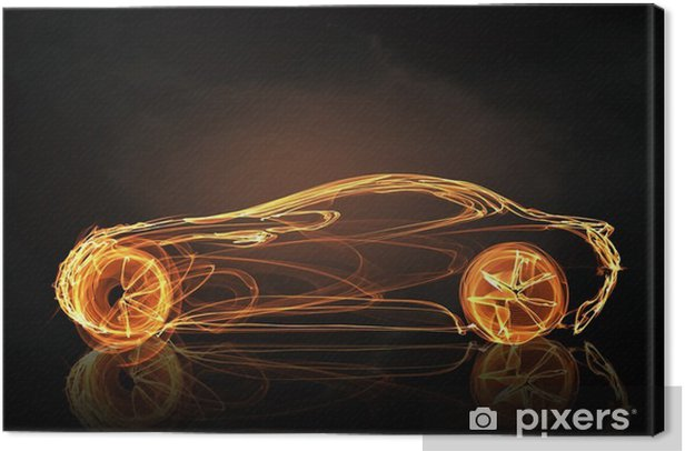 Tableau sur toile Symbole de la lumière de voiture - Ressources graphiques