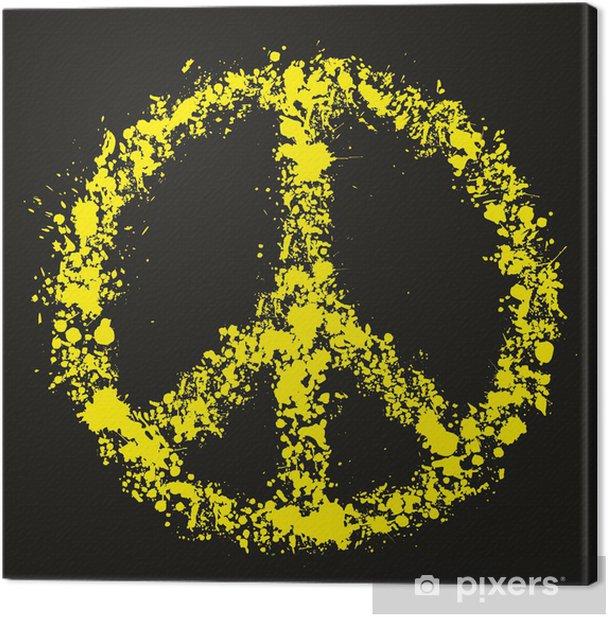 Tableau sur toile Symbole de paix grunge - Pacifique, illustration vectorielle - Paix