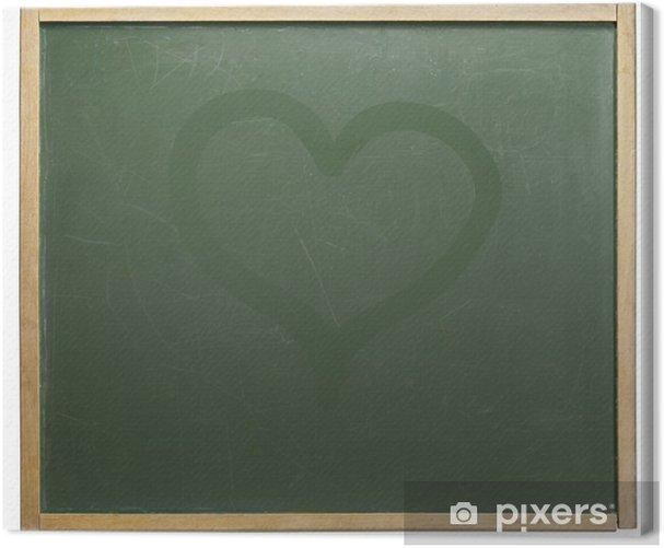 Tableau sur toile Tableau et en forme de coeur - Signes et symboles