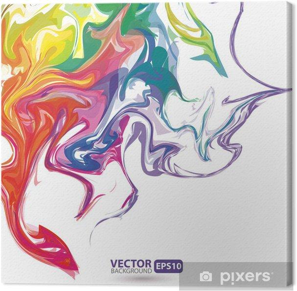 Tableau sur toile Taches colorées de peinture abstrait - Arrière plans