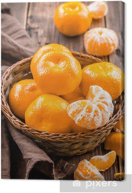 Tableau sur toile Tangerines - Fruits