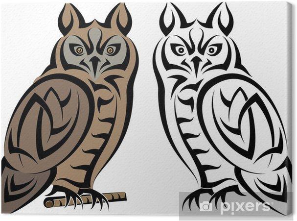 Tableau sur toile Tatouage Owl - Thèmes