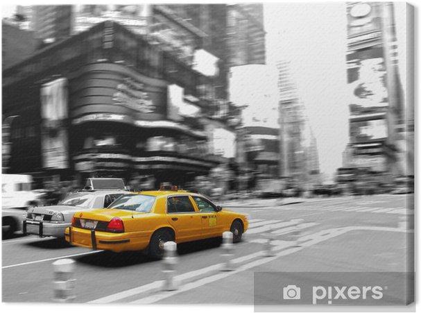 Tableau sur toile Taxi à times square - Villes américaines