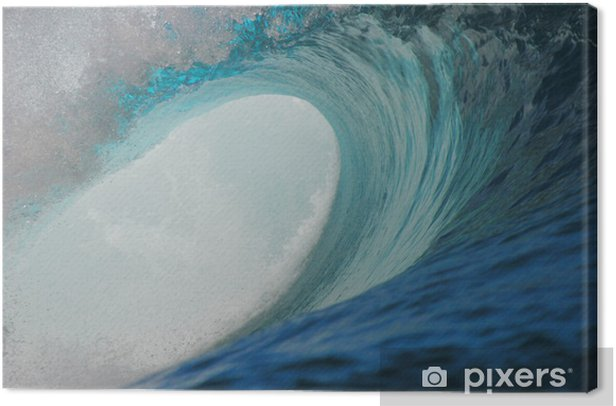 Tableau sur toile Teahupoo ondes - Sports aquatiques