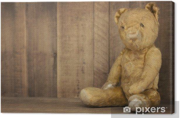 Tableau sur toile Teddy Bear cru sur étagère - Jeux