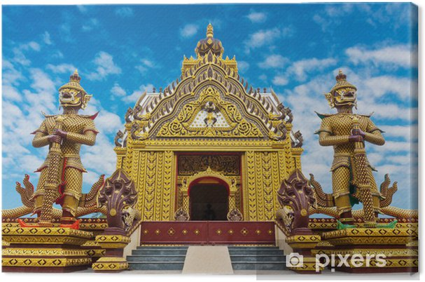 Tableau sur toile Temple de beauté sur la montagne - Monuments