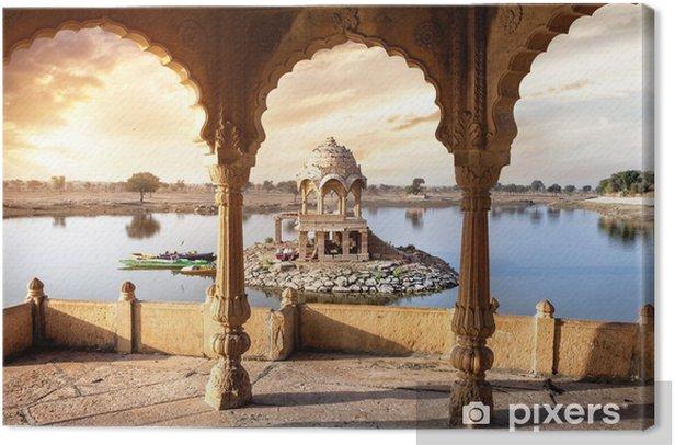 Tableau sur toile Temple sur l'eau en Inde - Monuments