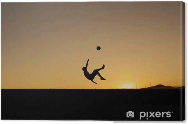 Tableau sur toile Temps de soccer - Matchs et compétition
