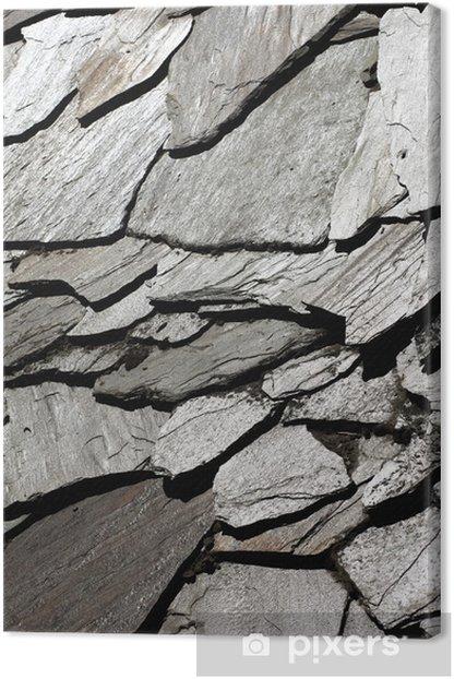 Tableau sur toile Tendance naturelle d'un mur de pierre - Thèmes