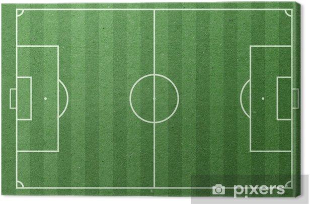 Tableau sur toile Terrain de football papier vert - Sports collectifs