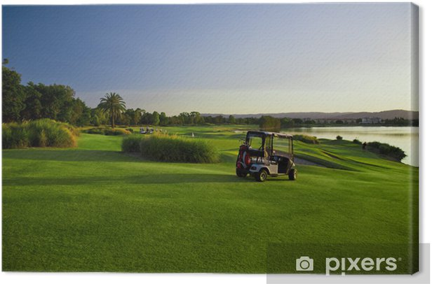 Tableau sur toile Terrain de golf et les poussettes - Sports individuels