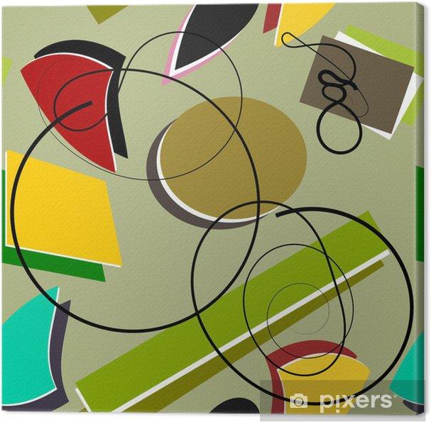 Tableau sur toile TERRAIN dessin géométrique couleur a changé - Industrie lourde