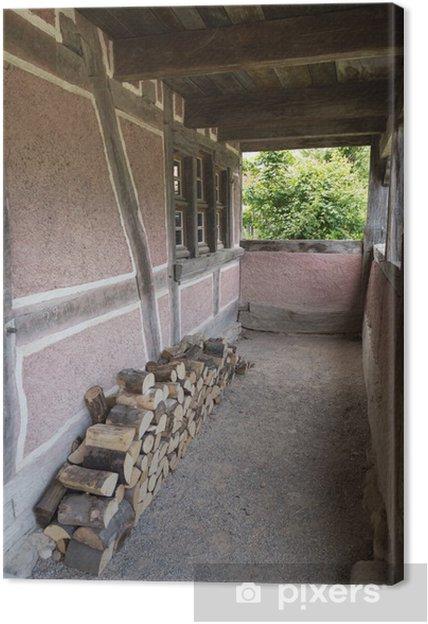 Tableau Sur Toile Terrasse D Une Maison Ancienne Et Stock De Bois
