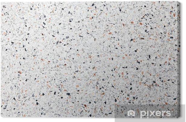 Tableau sur toile Terrazzo blanc chaussée fond - Arrière plans
