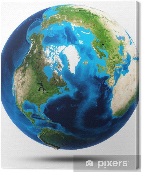 Tableau sur toile Terre de véritables montagnes relief - Espace