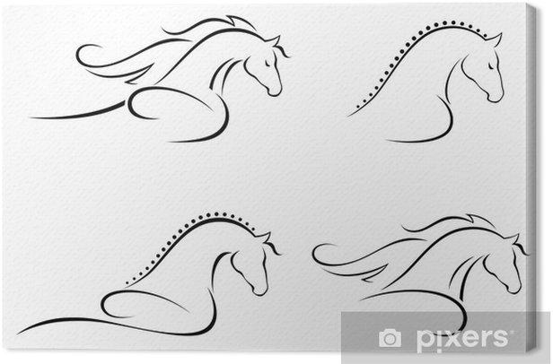 Tableau sur toile Tete cheval - Mammifères