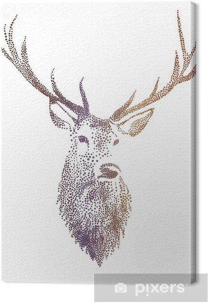 Tableau sur toile Tête de cerf, vecteur - Mode de vie