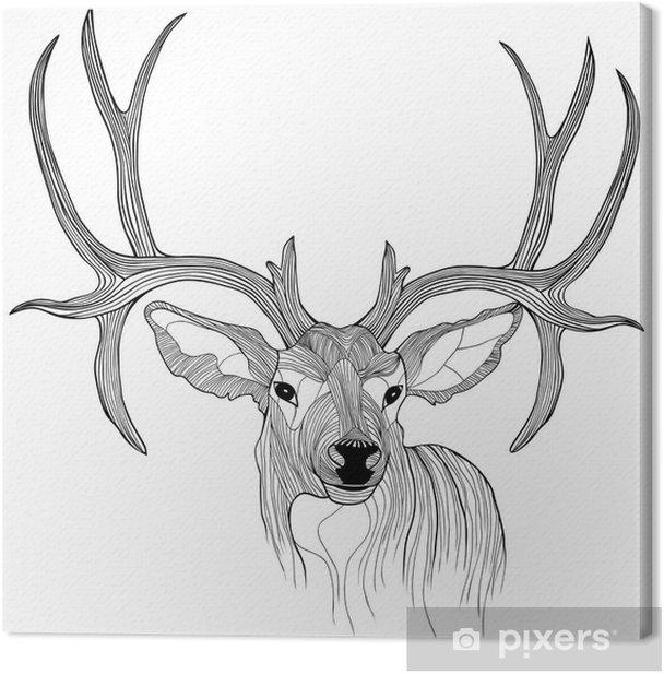 Tableau sur toile Tete de cerf - science &; nature