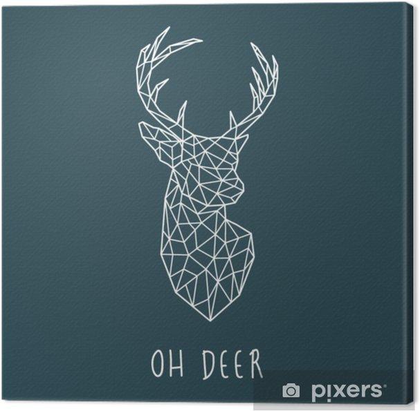 Tableau sur toile Tête polygonale de cerf scandinave. illustration vectorielle moderne - Animaux