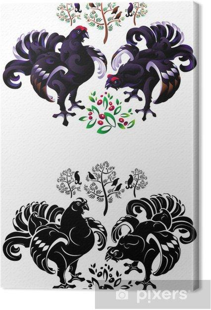 Tableau sur toile Tétras lyre - Oiseaux