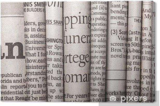 Tableau sur toile Texte. Un fond noir et blanc de la langue anglaise - Autres objets