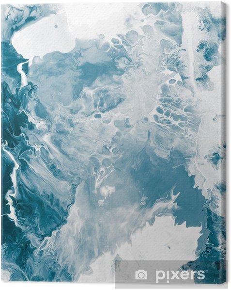 Tableau sur toile Texture de marbre bleu -