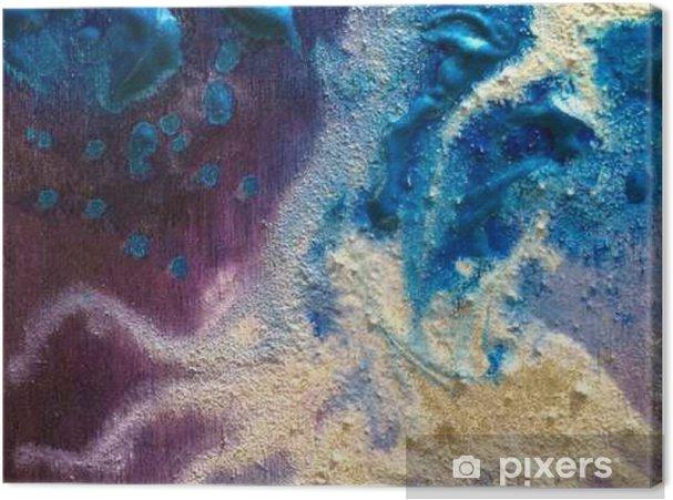 Tableau Sur Toile Texture De Peinture Colorée. Vert Et Argenté. Violet Et  Bleu