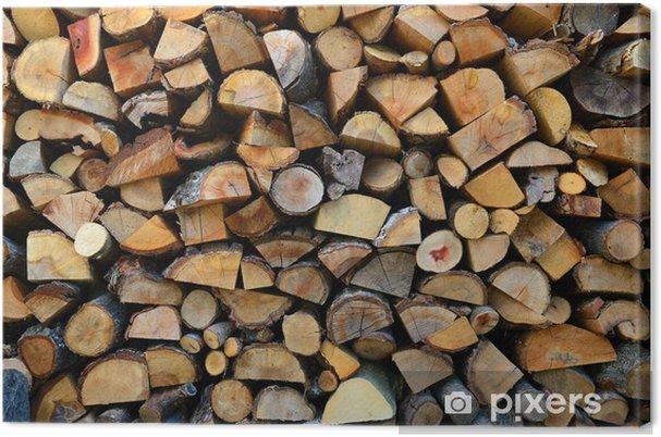Tableau Sur Toile Texture De Rondins De Bois
