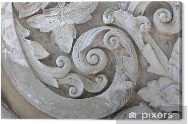 Tableau sur toile Texture de travail gris Stuc - Textures