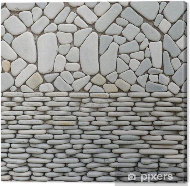 Tableau sur toile Texture du mur de galets de pierres - Maisons et jardins