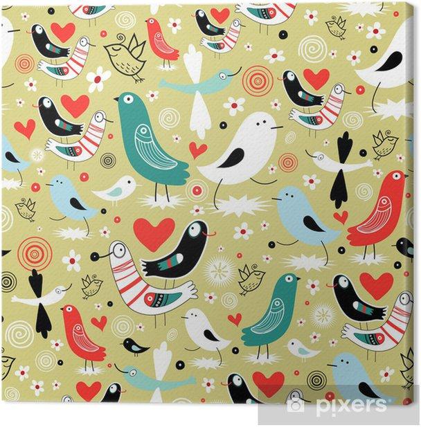 Tableau sur toile Texture graphique des oiseaux - Fêtes internationales